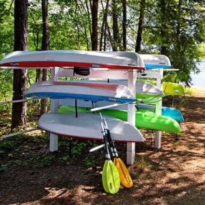 Lesstor Heavy Duty, Commercial-grade Kayak, SUPs, & Canoe Storage Racks - LIFETIME WARRANTY!