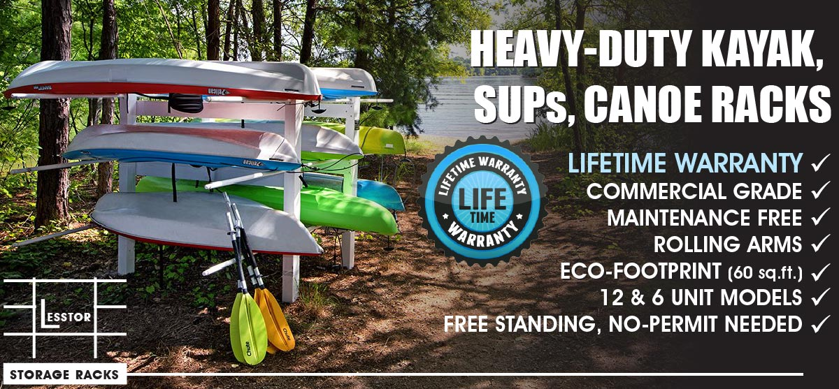 Lesstor Heavy Duty Commercial Kayak, SUPs, Canoe Storage Racks